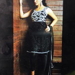 Beautiful Rhinestone Anarkali Suit!