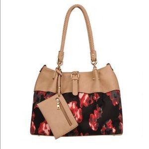 Black Rivet Handbags - Stunning two tone large shoulder bag!
