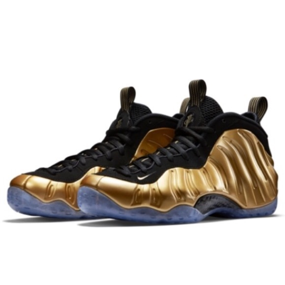 370916ed0f2712 Nike foamposites black and gold Posite one