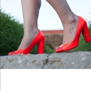J. Crew Shoes - Neon orange jcrew pumps