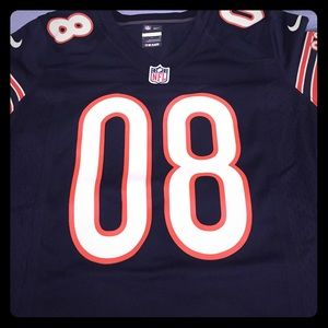 A custom made NFL Chicago Bears woman's jersey.
