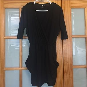 Simple Black dress with 3/4 Sleeves and Pockets
