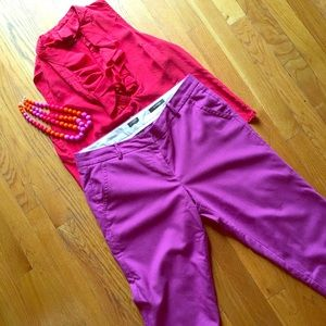 JCrew Skimmer Plum Pants
