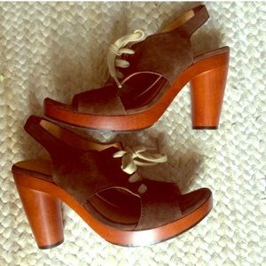 Anthropologie Shoes - {chie mihara} NWOT Suede Lace Up Heels
