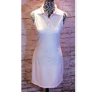 TAHARI PINK POLO SHIRT DRESS
