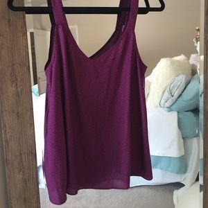 BCBGeneration Purple and black spotted tank