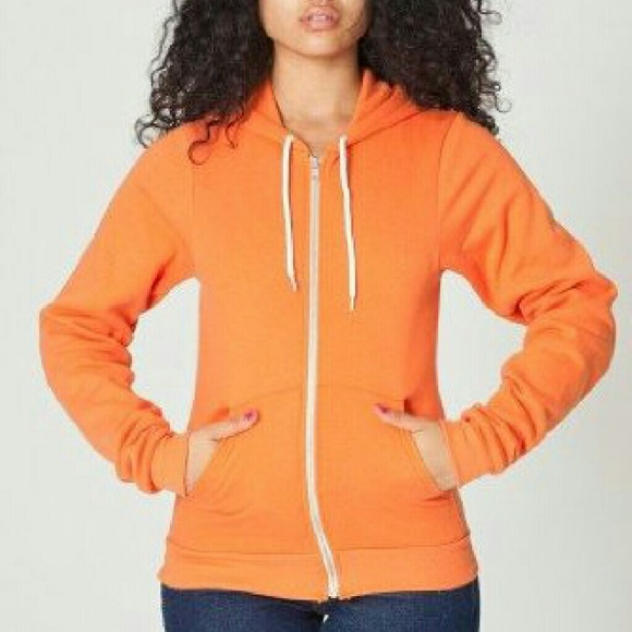 85% off H&M Sweaters - Orange Zip Up Hoodie from Josie's closet on ...