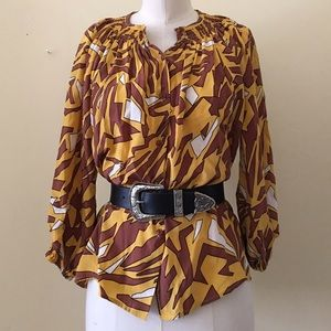 Tucker Tops - Silk Tucker Blouse