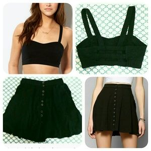Urban Outfitters Dresses & Skirts - HP | Set of Black Cage Bralette and Mini Skirt