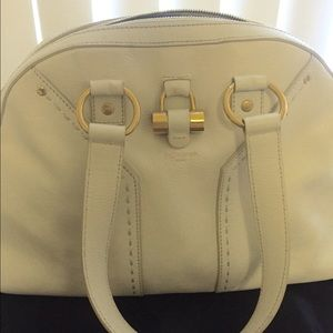 YSL White Muse Bag