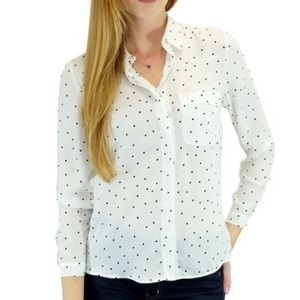 Relished Tops - SALE - final discount ‼️🆕White  Polka Dot Blouse