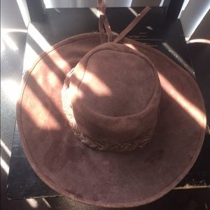 Brown Suede Lucky Brand Hat