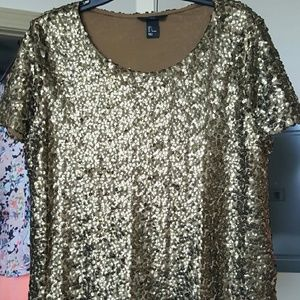 H&M Tops - Sequin top