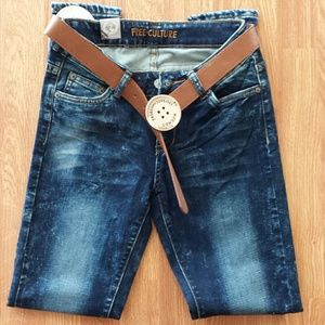 Faded Denim Skinny Jeans