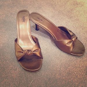 Mossimo Bronze Heels 9.5
