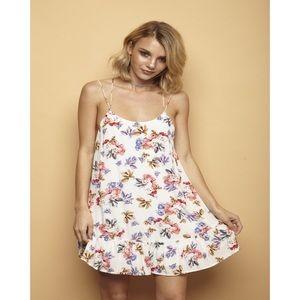 Dresses - Floral Print Strappy Back Trapeze Dress