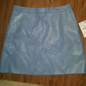 Zara Dresses & Skirts - Powder blue faux leather mini skirt