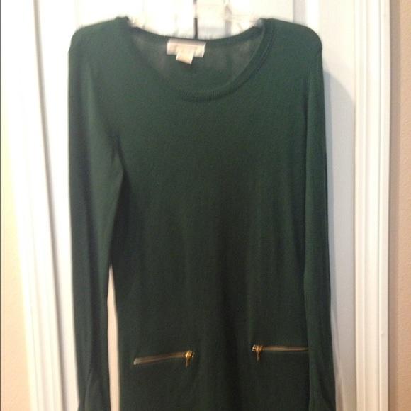 37c9dd7d2b Michael Kors Hunter Green Sweater Dress. M 57703a135c12f825c6089b6c