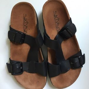 Birkenstock Shoes - Sixtyseven Birkenstock-style footbed sandals