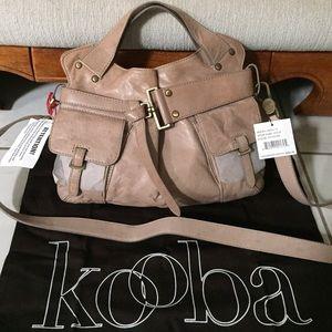 "Kooba Handbags - Kooba ""Jaylin"" Stone Nappa Leather Tote NWT"