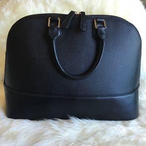 ❤️⚜Host Pick!⚜❤️ Saffiano Black Leather Satchel