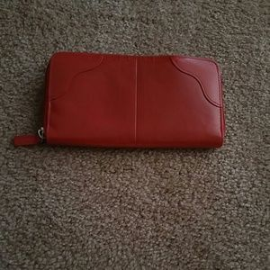 Fire red Buxton Genuine leather wallet