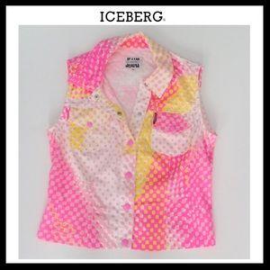 Iceberg Tops - ICEBERG Sleeveless Top w/Snap closures