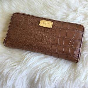 Ralph Lauren Handbags - Ralph Lauren Embossed Leather Wallet