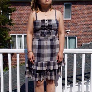 Trovata Dresses & Skirts - Trovata Checkered Dress with Tiered Pleats