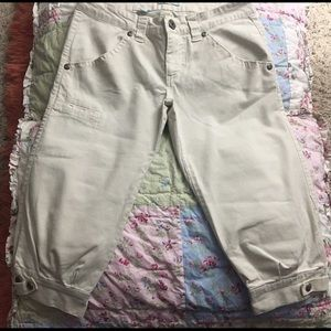 Anchor Blue Pants - Anchor blue cropped khaki pants