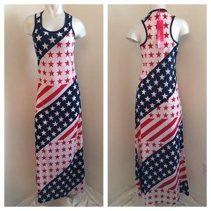True Rock Dresses & Skirts - 🎉🎉5/28🎉🎉New - Flag Maxi Dress