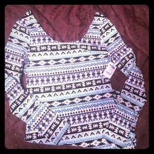 Charlotte Russe long sleeve Aztec dress
