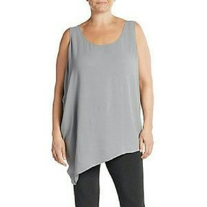Eileen Fisher Tops - Plus - Eileen Fisher Silk Asymmetric Draped Shell
