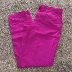 Gap broken in straight khaki pants