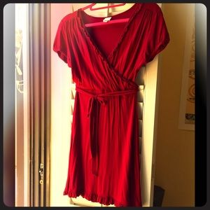 "Red XS jersey dress 22"" from waist down"