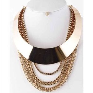 Jewelry - Layered Chain Statement Necklace