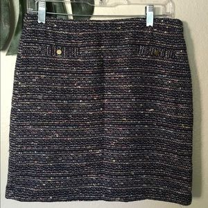 LOFT Dresses & Skirts - navy Loft tweed skirt