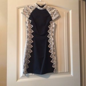 Nwt kensie crochet and black dress