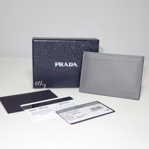 PRADA MERCURIO CARD CASE - NIB