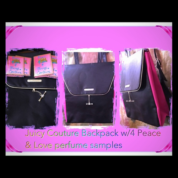 Juicy Couture Handbags - 🔰SALE🔰Juicy Couture Backpack w 4 perfume packs 44756e3ade9a