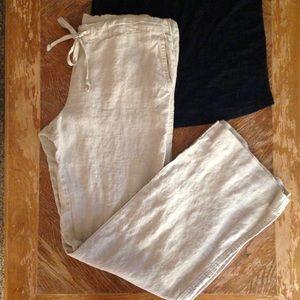 Allen Allen Pants - Petite Allen Allen Drawstring Linen Pants