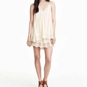 H&M Other - H&M Beige Playsuit in Lace | Cream | 6