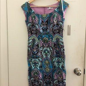 Straight Knee length printed Dress