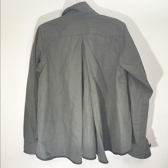Sacai Jackets & Coats - Sacai Luck Green-flared back military shirt jacket