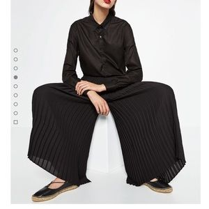 Zara Pleated Cropped Pants
