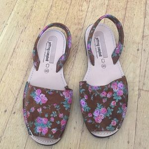 Jeffrey Campbell brown suede and pink rose Sandals