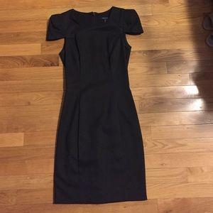 French Connection Strong Shoulder Black Dress