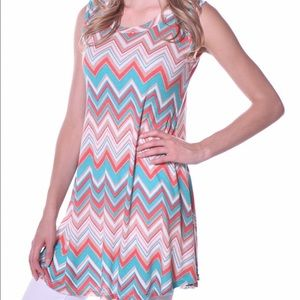 Pastels Clothing Tops - ✳️. Sleeveless Chevron Tunic