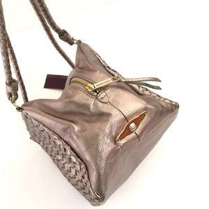 Elliott Lucca Handbags - Pyrite Gold Gorgeous Leather Handbag NWOT