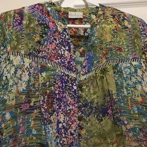 Silk watercolor blouse by Dolan